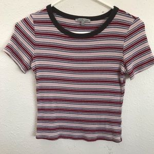Striped crop top ribbed charlottle russe